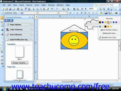 Publisher 2003 Tutorial Changing Line Colors Microsoft Training Lesson 6.2