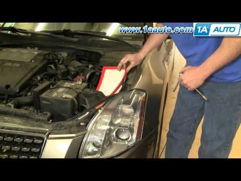 How To Install Replace Air Filter Housing Box Nissan Maxima 04-06 1AAuto.com