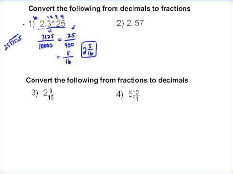 Converting Fraction to Decimals