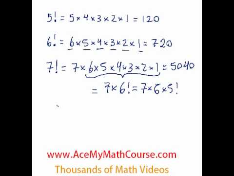 Factorials - Simple Introduction