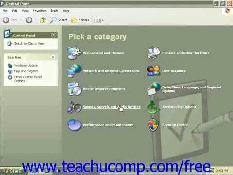 Windows XP Tutorial The Control Panel Microsoft Training Lesson 2.5