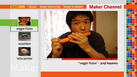 Maker Channel  102 Veggies, Swashbot, Latte Printer and Urban Camo on MAKE: television