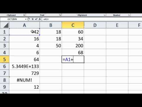 Excel 2010 Tutorial 4 - Calculations - Fibernachi Sequence