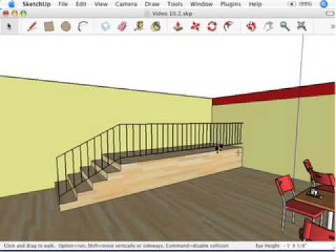 SketchUp: Stepping out with the Walk tool