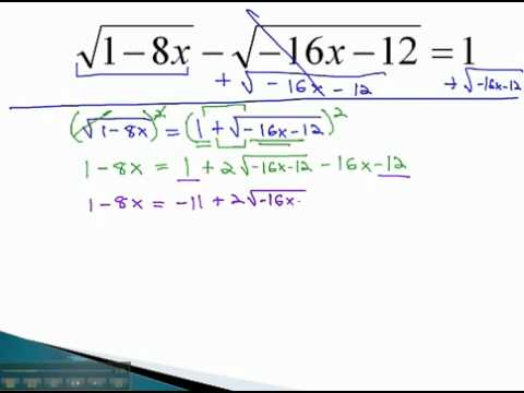 Equations with Radicals - Two Roots (part 2) - YouTube.mp4