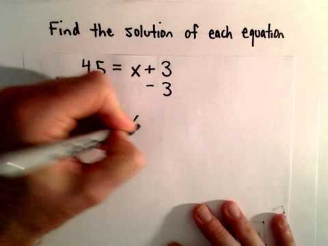 Solving Basic Equations Containing Integers