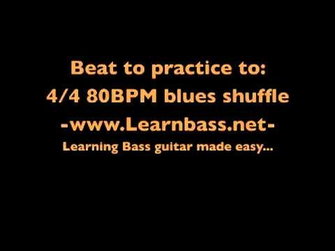 Beats to practice to:  4/4 80BPM Blues shuffle