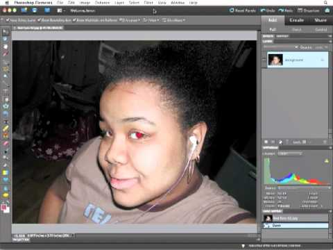 Adobe Photoshop Elements 9 - Remove Red Eye