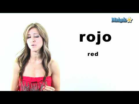 "How to Say ""Red"" in Spanish"
