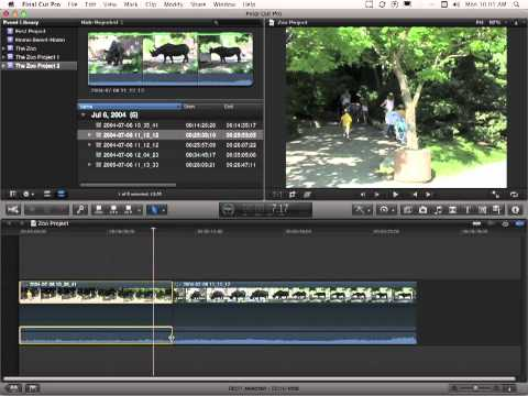 Apple Final Cut Pro X Tutorial -  Separating Audio and Video