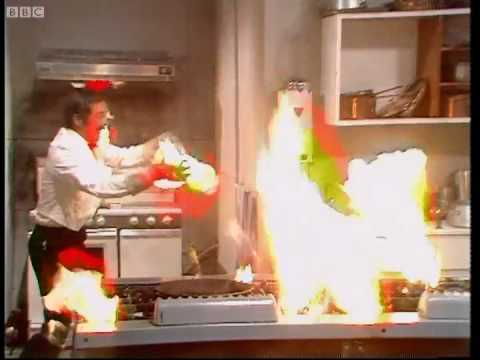 Fire in the kitchen - Fawlty Towers - BBC