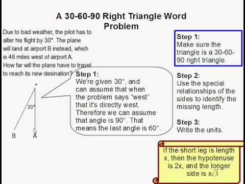 How to Solve a 30-60-90 Triangle Word Problem