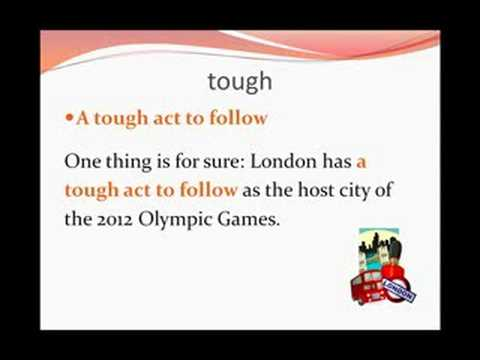 Advanced English 1b - Vocabulary - Olympic Games