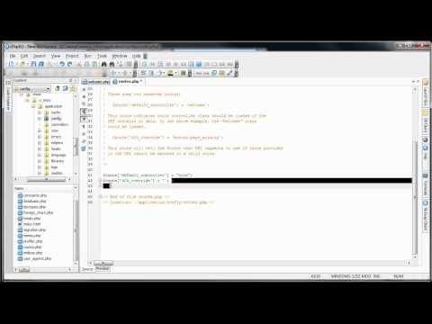 CodeIgniter Tutorials: Introduction to CodeIgniter - Controllers (Part 2/11)