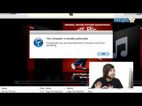 Authorize & De-authorize - iTunes