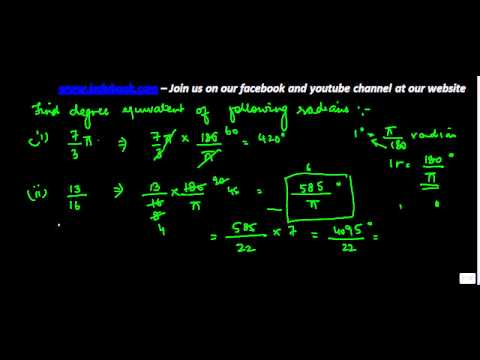 580.Trigonometry - Conversion of Radian Measure into Degrees - Multiple problems