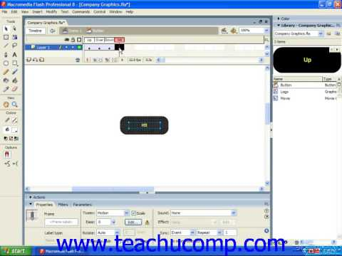 Flash Tutorial Button Symbols Adobe Training Lesson 4.5