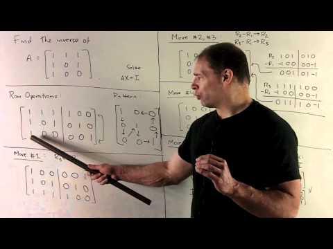 Inverse of 3 x 3 Matrix Using Row Operations 1