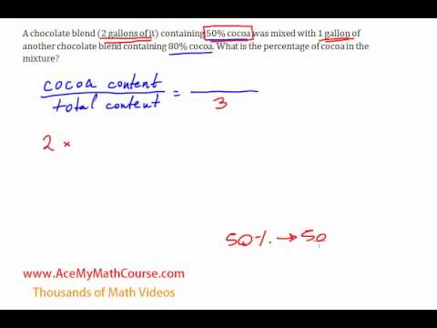 Mixture Word Problems - A Sweet Introduction (Algebra 1)
