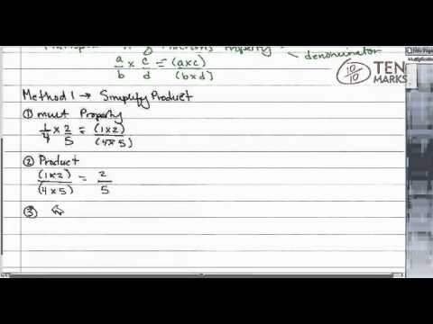 Multiplication of Fractions Property