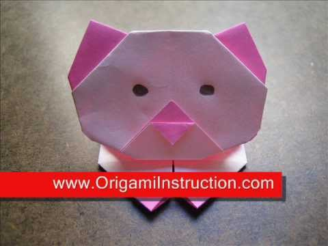 How to Fold Origami Kitten - OrigamiInstruction.com
