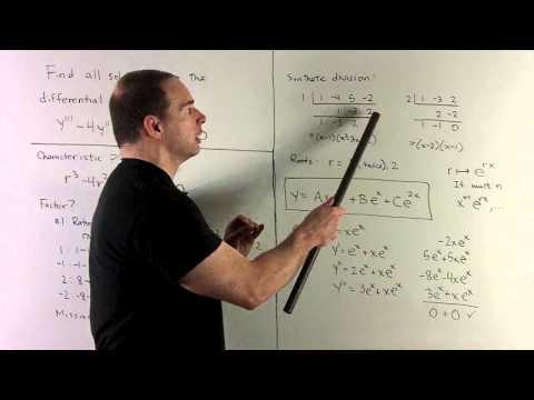 General Solution of   y'''-4y''+5y'-2y=0