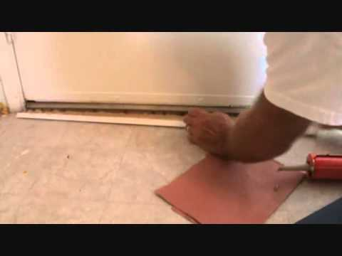 Installing door threshold trim.....without nails
