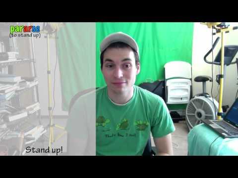 La Frase del Día - Día ciento cinco - Stand up! / Get up! (re-upload)