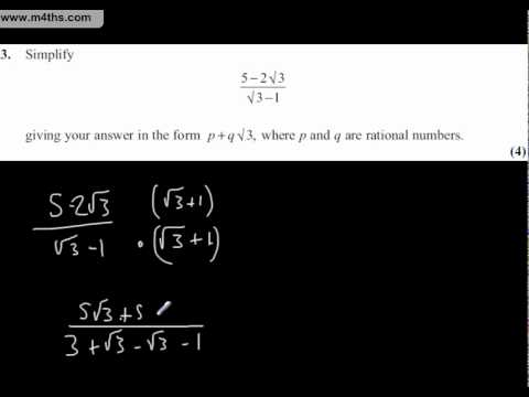 Core 1 Mathematics Edexcel January 2011 Question 3