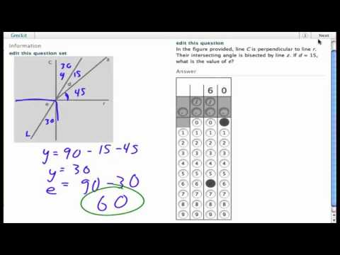 Grockit SAT Math - Student Produced Response: Question 1521