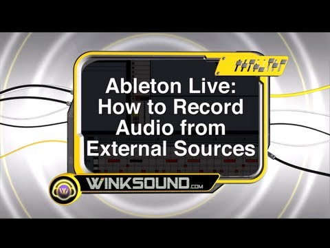Ableton Live: Record Audio from External Sources | WinkSound