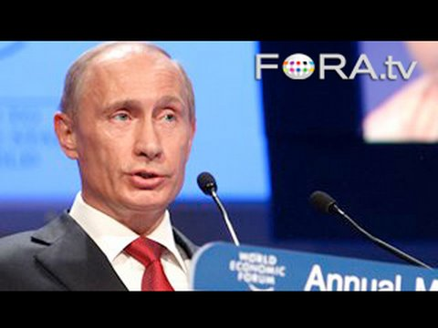 Putin Jabs at US Over Global Economic Crisis