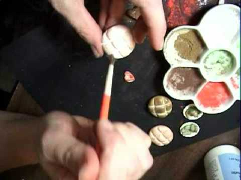 How to Make Realistic Miniature Dollhouse Bread.  EASY food appears real. garden-of-imagination.com