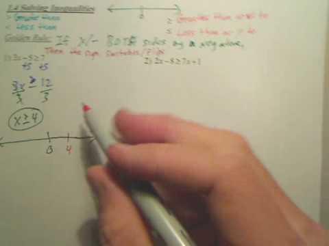 1.4 Solving Inequalities - Algebra 2
