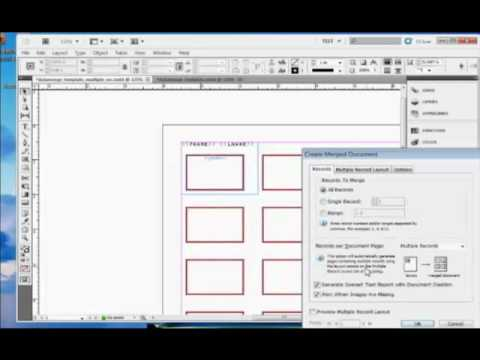 InDesign Tutorial : How to Perform a Data Merge in Adobe InDesign CS5