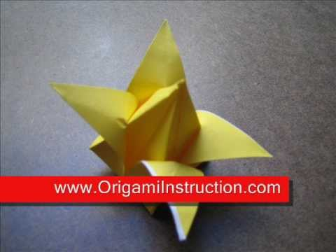 How to Fold Origami Traditional Tulip - OrigamiInstruction.com