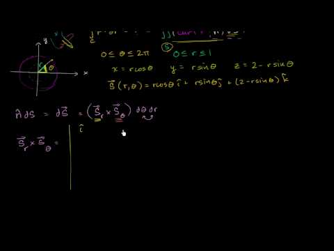 Stokes Example Part 3 - Surface to Double Integral