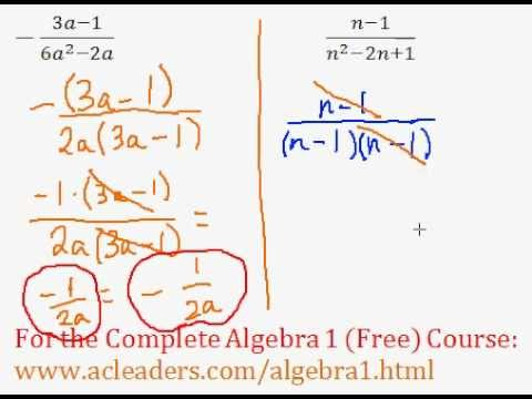 Rational Expressions - Simplifying Question #8