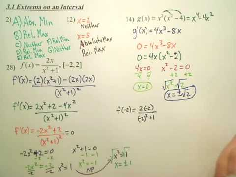 3.1a2 Extrema on an Interval - Calculus