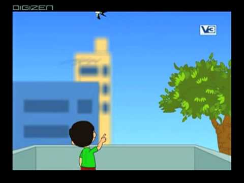 Kite bird flies high in sky (animated rhyme)