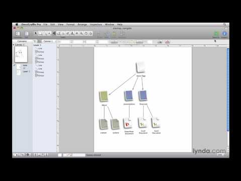 OmniGraffle: Exploring the tools and sidebars | lynda.com overview