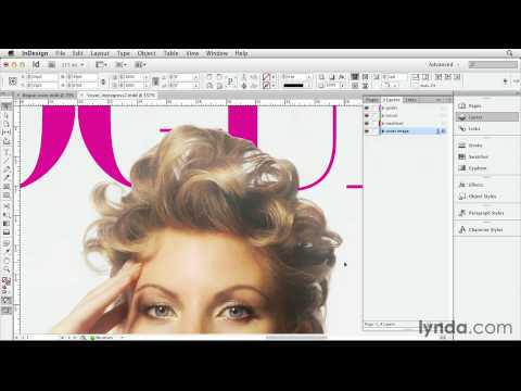 Design tutorial: Combining the cover image and masthead | lynda.com