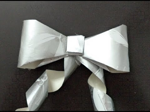 ♥ How to make 3D PAPER BOWS for Gift Wrapping or Scrapbooking ♥ ( • ◡ • )