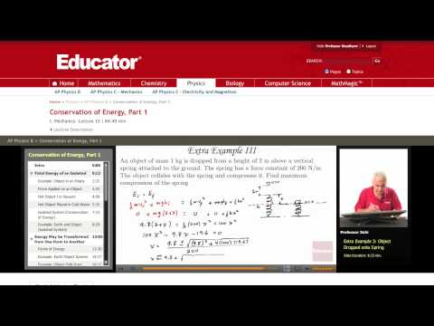 Physics: Conservation of Energy (Spring)