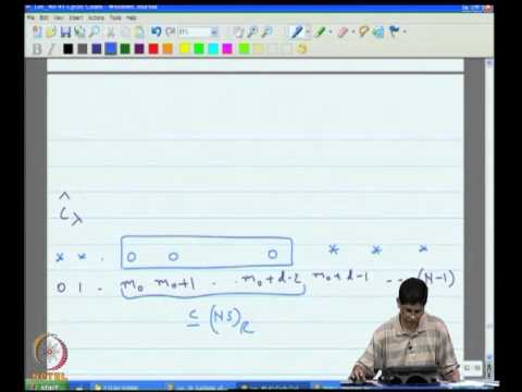 Mod-11 Lec-41 Estimating the Parameters of a Cyclic Code