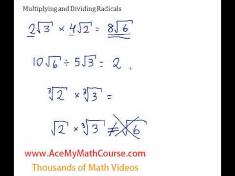 Multiplying and Dividing Radicals - Introduction