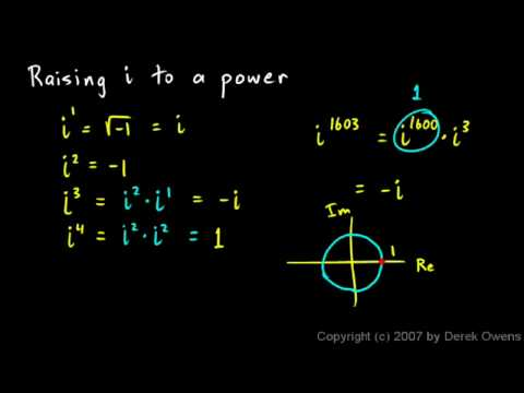 Complex Numbers, Part 5 - The Imaginary Unit