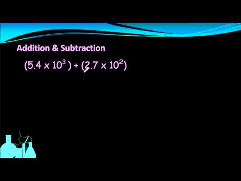 Chemistry 1.4 Scientific Notation