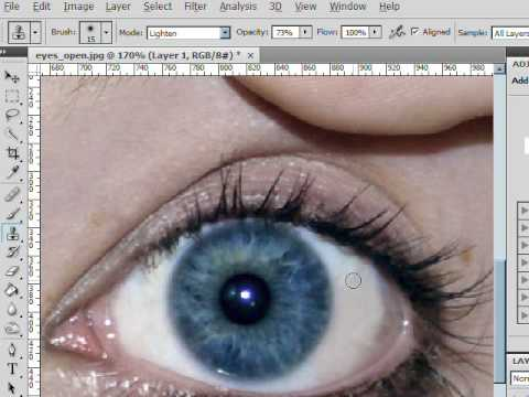 Whitening Eyes And Removing Veins Photoshop Lesson 7