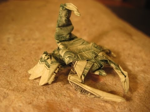 Dollar Origami: Won Park Scorpion - Steps 16-22 (Not Full Model)
